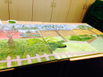 Just one o the eight giant canvases created at Mattock with Busylizzie Art