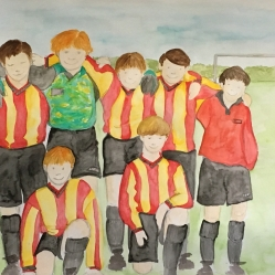 Primary school football friends...